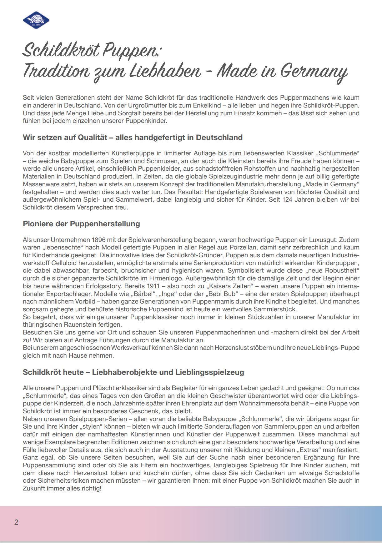 Schildkrot Catalogue 2021